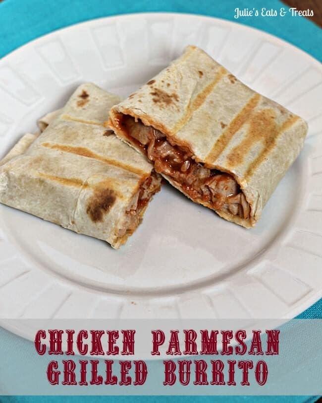 Chicken Parmesan Grilled Burritos