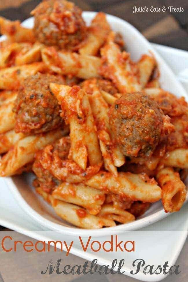Creamy Vodka Meatball Pasta