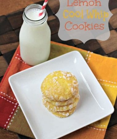 Lemon Cool Whip Cookies ~ Light, Airy Cookies made with only 3 ingredients! via www.julieseatsandtreats.com