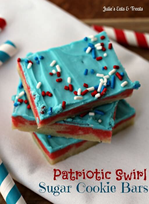 Patriotic Swirl Sugar Cookie Bars - Blog