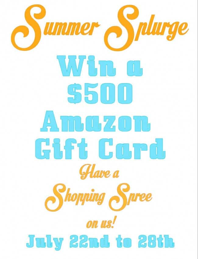 Amazon $500 Giveaway