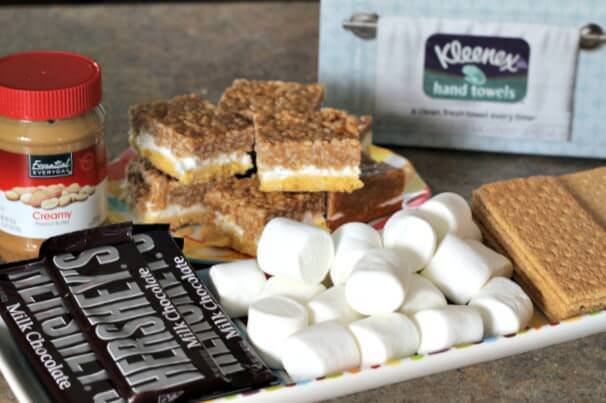 Kleenex Hand Towels S'mores Party Prep