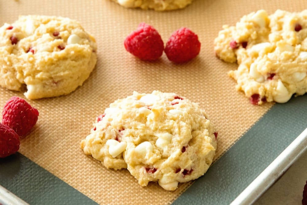 White Chocolate Raspberry Cookies Recipe that taste just like Subways!