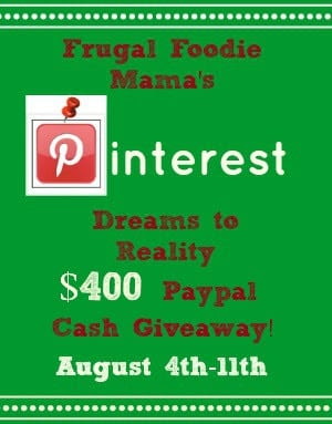 Pinterest To Reality $400 PayPal Cash #giveaway!