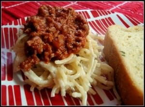 Spasanga ~ It's like Spaghetti and Lasagna all in one!