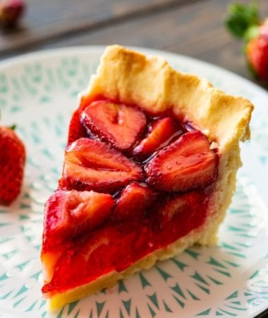 Piece of Strawberry Pie on plate