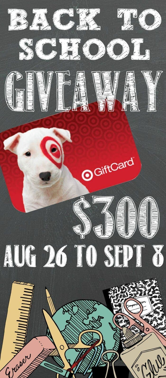 Back To School $300 Target Gift Card Giveaway!