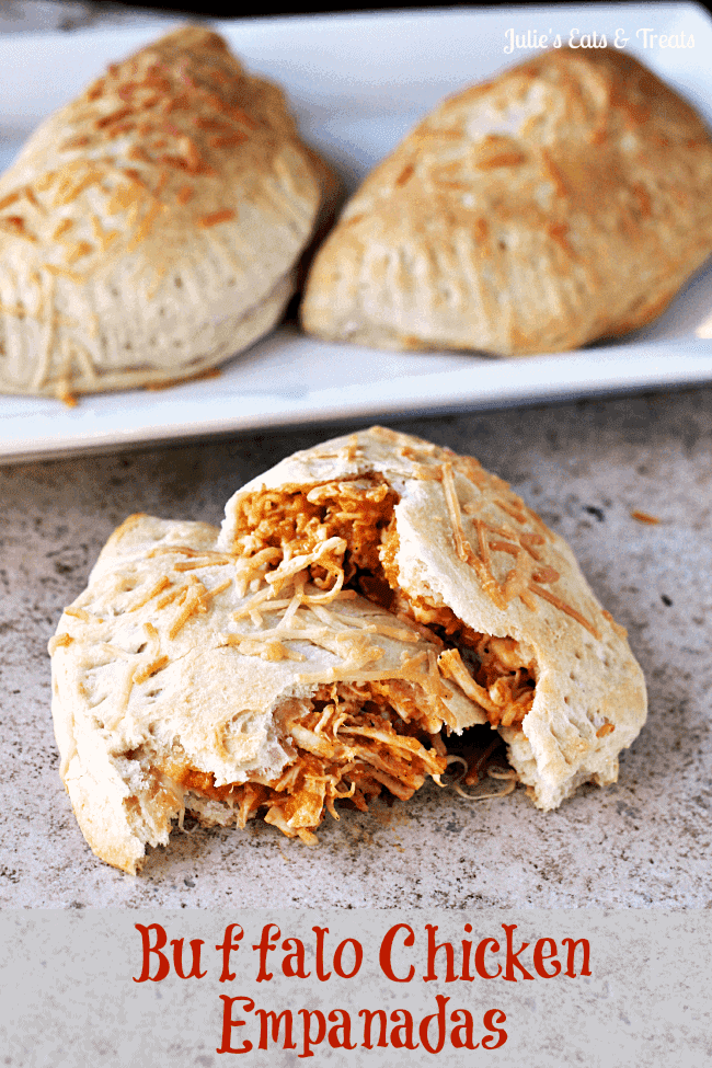 Buffalo Chicken Empanadas ~ Grands Biscuits stuffed full of Buffalo Chicken and baked to perfection!