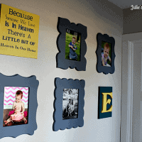 Gallery Wall ~ Cut it Out Frames Giveaway! via www.julieseatsandtreats.com