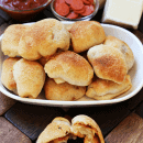 Homemade Pepperoni Pizza Rolls ~ Quick & Easy Weeknight meal for those on the go! via www.julieseatsandtreats.com
