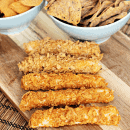 Baked Twisted Cheese Sticks ~ Crunchy Cheese stickes with a coating of Green Giant Chips! #GiantFlavor #ad