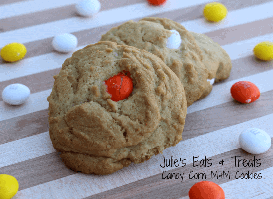 Candy Corn M&M Cookie