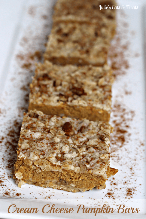 Cream Cheese Pumpkin Bars ~ Light, Smooth, Nutty, Creamy Pumpkin Bars!