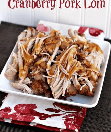Crock Pot Cranberry Pork Loin