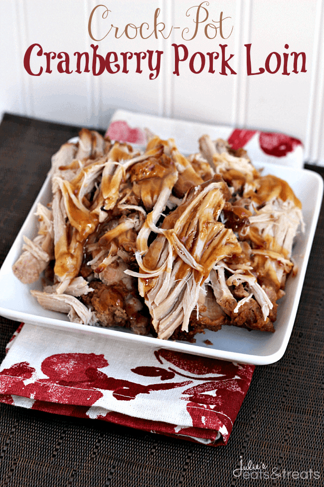 Slow Cooker Cranberry Pork Recipe — Dishmaps
