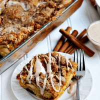 Overnight Pumpkin Cheesecake French Toast Casserole ~ Pumpkin Cheesecake stuffed into a French Toast Casserole!