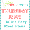 Julie's Easy Meal Plans ~ Simple every day meals for the busy family!!