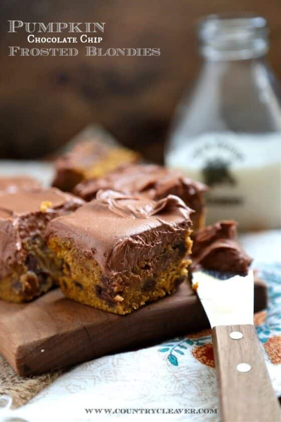 pumpkin-chocolate-chip-frosted-blondies-www-countrycleaver-560x839