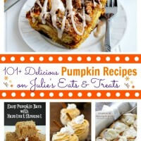 101+ Delicious Pumpkin Recipes from the best bloggers on Julie's Eats & Treats! What recipe will YOU try first??!!