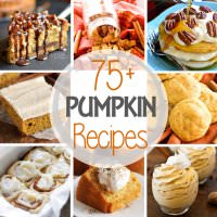75+ Pumpkin Recipes ~ Tons of Great Pumpkin Recipes! Everything from Breakfast to Dessert to Snacks! There's Something for Everyone!