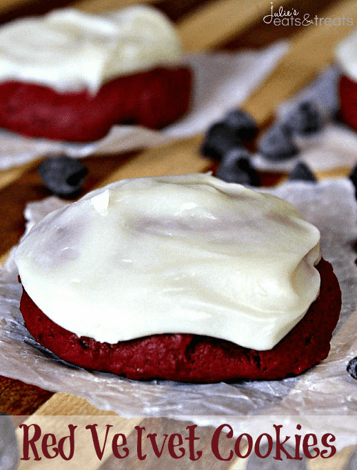 Red Velvet Cookies With Cream Cheese Frosting Recipe ...