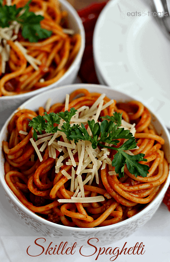 Skillet Spaghetti Quick Easy Homemade Spaghetti Only Uses One Skillet