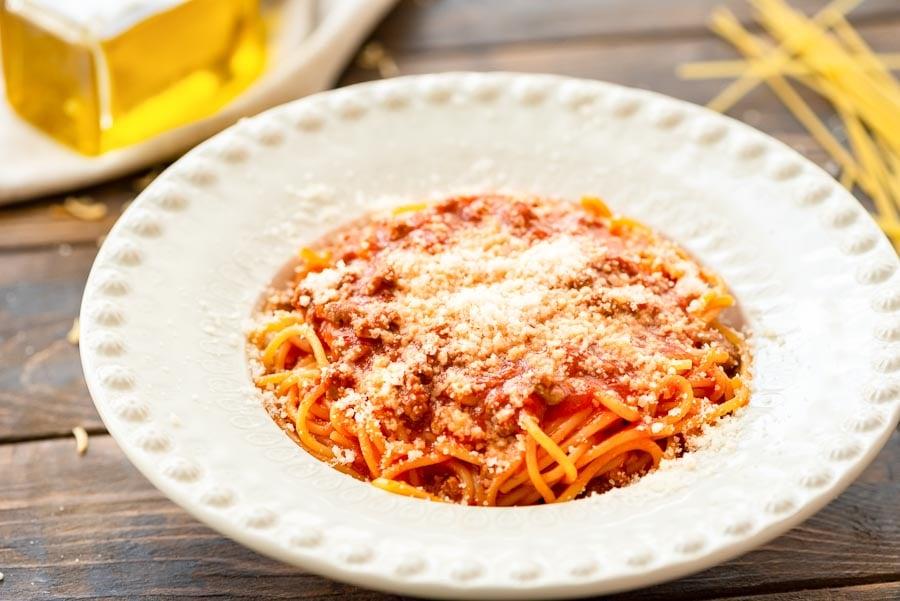 Skillet Spaghetti in bowl