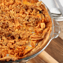 Taco Pie ~ Crescent Rolls piled with taco meat, sour cream, Mexican cheese and nacho cheese chips!