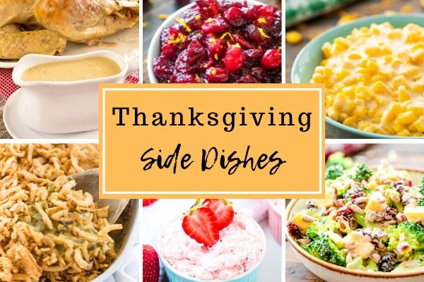 Square collage of thanksgiving side dish recipes
