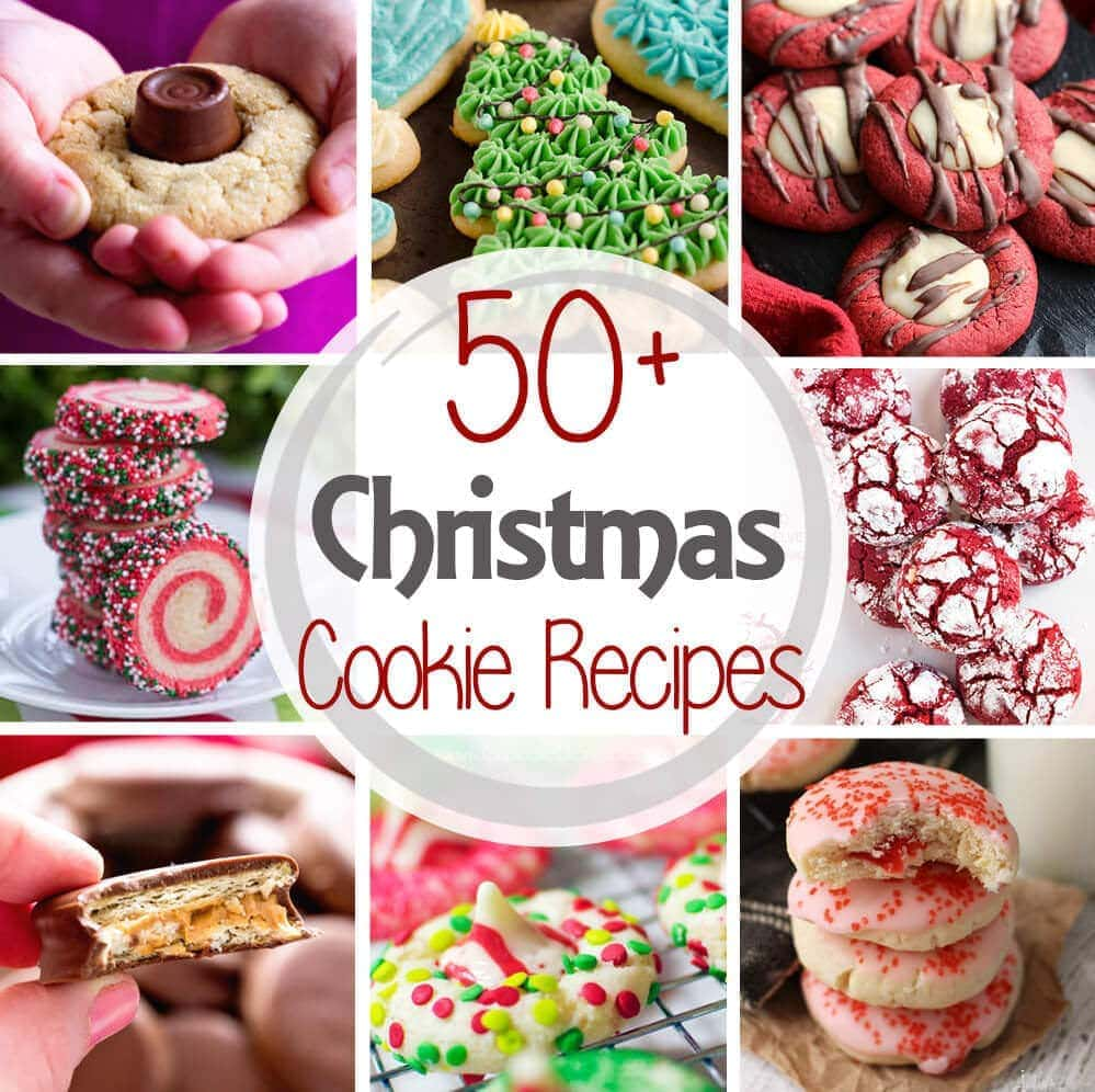 'Tis the season for cookies! I've rounded up over 50 Christmas Cookie recipes to use for cookie swaps, holiday parties and gifts. Grab a cookie and enjoy!
