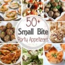 Get ready for holiday parties and New Year's Eve by making small bite appetizers. This round up has more than 50 recipes from the best bloggers! All of these recipes are party favorites in their home during the holiday season.
