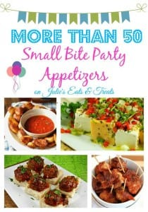 Get ready for holiday parties and New Year's Eve by making small bite appetizers. This round up has more than 50 recipes from the best bloggers!