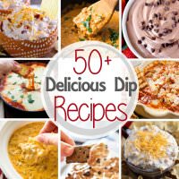 Over 50 Delicious Dip Recipes! Everything from Sweet to Savory. They make the perfect appetizers for your parties!