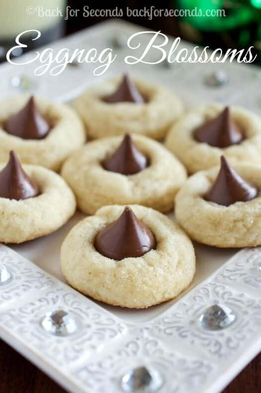 eggnog-cookies-with-hershey-kisses