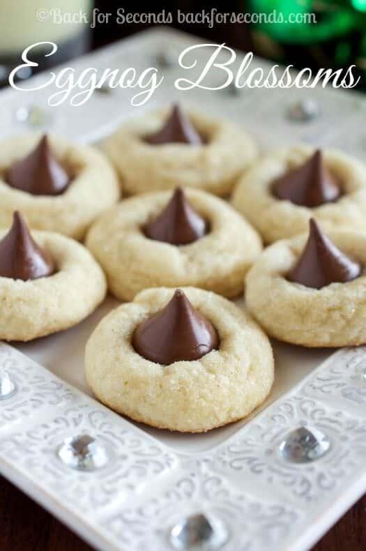 eggnog-cookies-with-hershey-kisses