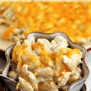 Lighter Creamy Mac & Cheese ~ Creamy homemade Mac & Cheese lightened up but stacked with cheesiness!