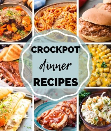 Collage of crock pot dinner images