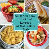 Crock Pot Round Up ~ Winter is the perfect season to whip out the crock pot! I've rounded up 62 of the BEST crock pot recipes perfect for dinner! All of these recipes are easy and delicious!