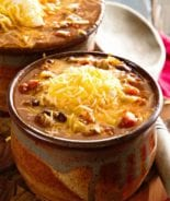 Crock Pot Famous Chili ~ Amazing chili to warm up to on a cold winter's day made in your slow cooker!