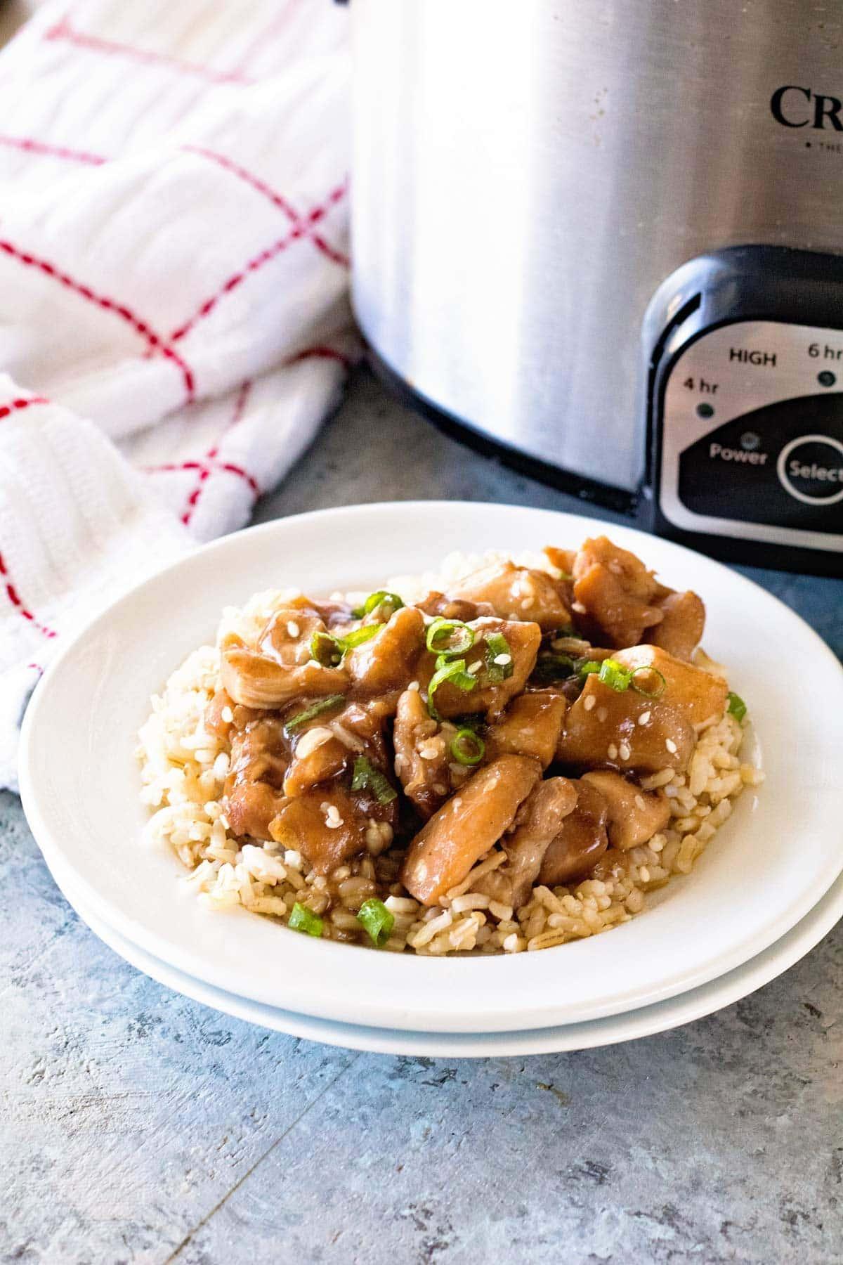 Slow Cooker Chicken Teriyaki for an easy dinner recipe!