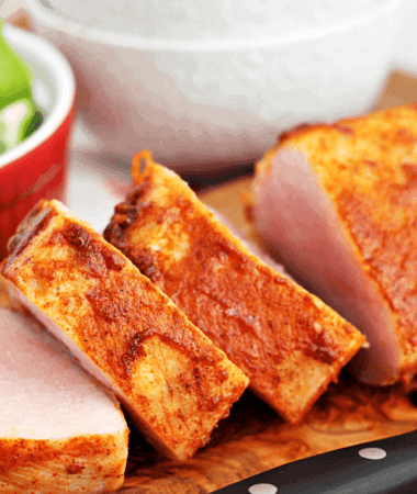 Southwestern Pork Tenderloin ~ Quick and easy pork tenderloin with a kick and only 3 ingredients!
