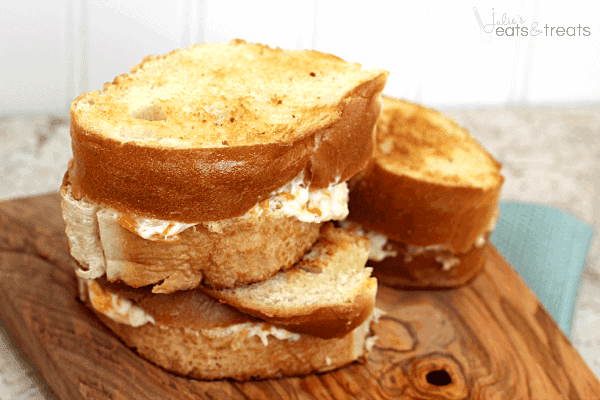 The Ultimate Grilled Cheese ~ French Bread Stuffed with THREE Different Types of Cheese and Grilled to Perfection!