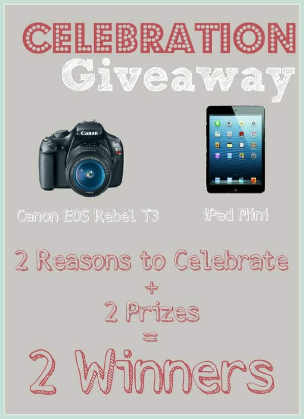 iPad Mini & Canon T3 Giveaway!