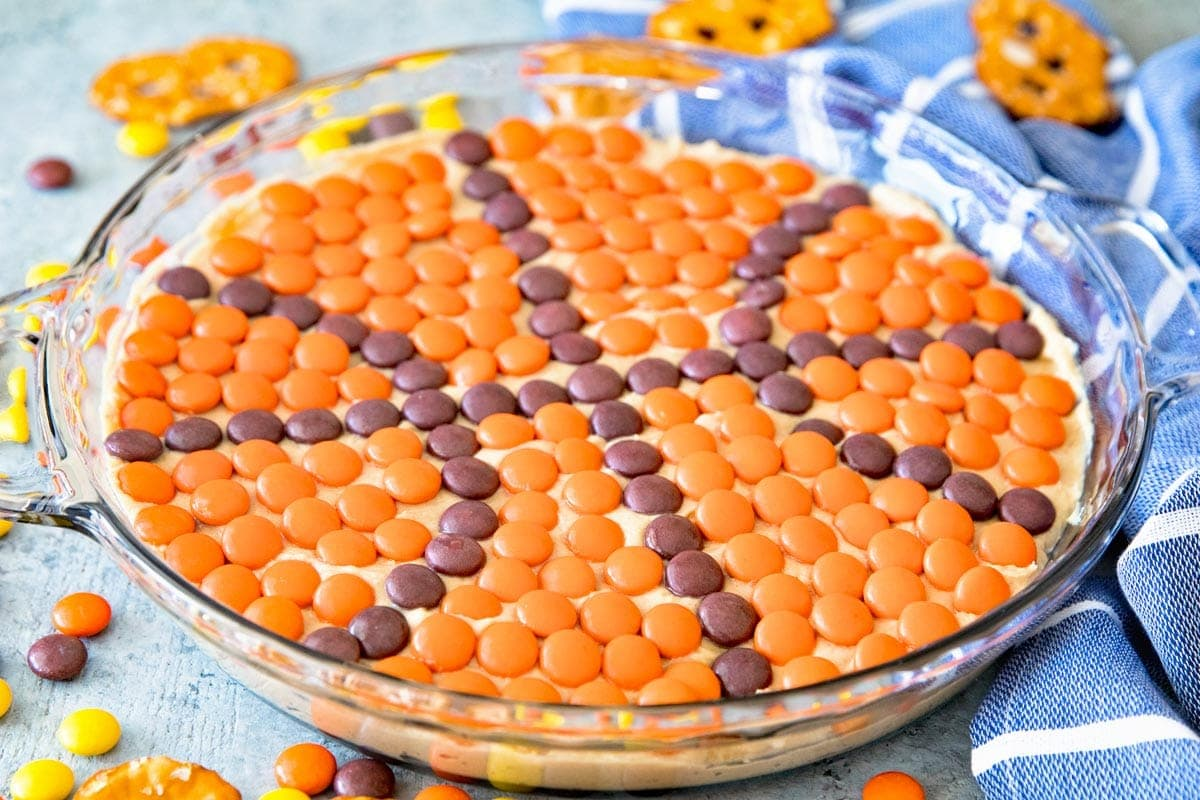 Peanut Butter Dip with Reese's Pieces