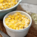 Crock Pot Cheddar Creamed Corn ~ The perfect easy side dish for your main dish! Throw it in the Crock Pot and forget it!