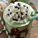 Grasshopper Ice Cream Dessert ~ Light, Fluffy & Minty Ice Cream Dessert that is always a hit!