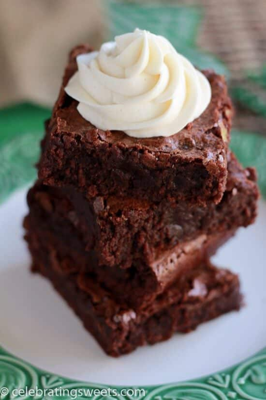 Guinness-Brownies-with-Irish-Cream-Frosting-Celebrating-Sweets