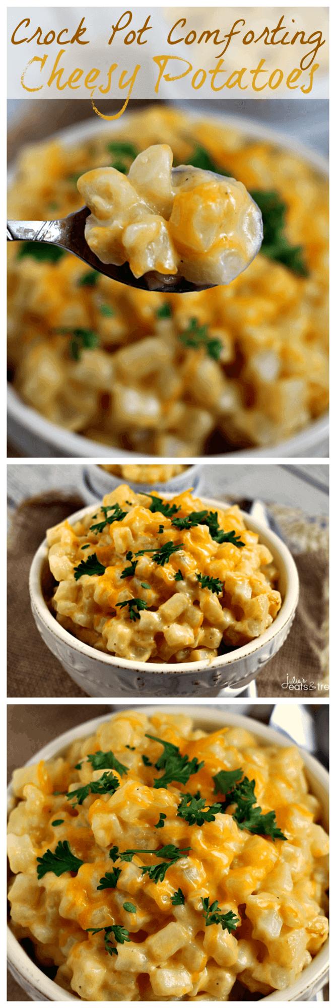 Crock Pot Cheesy Potatoes ~ Easy Creamy, Dreamy, Cheesy Potatoes!