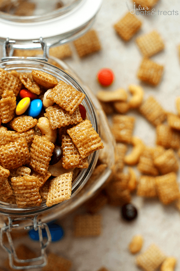 Sweet & Salty Cashew Chex Mix - Julie's Eats & Treats ®
