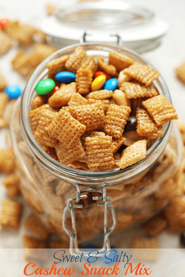 Sweet Salty Cashew Chex Mix Julie S Eats Treats
